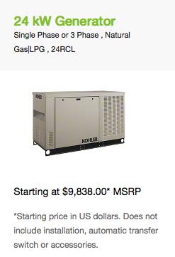 24 kW Generator