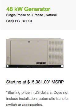 48 kW Generator